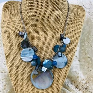 KR Blue Abalone Necklace